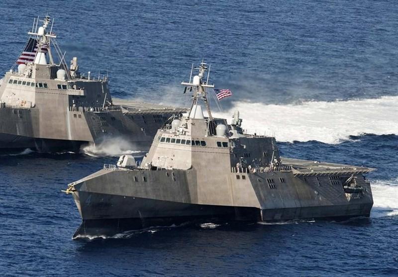 مشارکت نیروهای سعودی و آمریکا در بزرگ ترین رزمایش دریایی