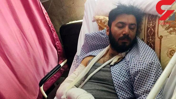 حمله وحشیانه 6 قمه کش به قهرمان اسکی ، پوریا کیاشمشکی روی تخت بیمارستان